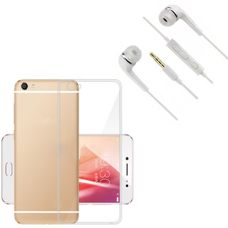Sureness Back Cover For Vivo Y53 With YR Headphone (Transparent)