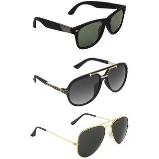 Zyaden Combo of 3 Sunglasses
