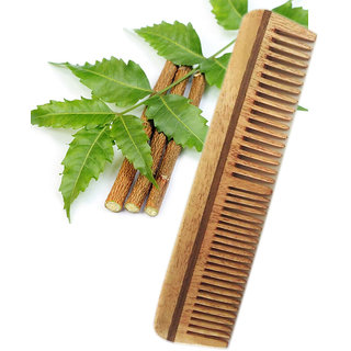 Neem Wood Comb Anti Dandruff Comb