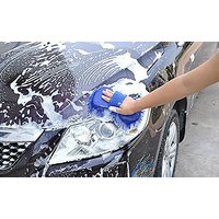 Martand Bikers World Car Suv Sponge Pad Microfiber Washing Cleaning Dashboard Cloth
