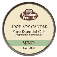 Minty 100% Pure & Natural Soy Candle 6 Oz