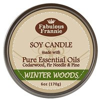 Woods 100% Pure & Natural Soy Candle 6 Oz