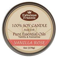 Vanilla Rose 100% Pure & Natural Soy Candle 6 Oz