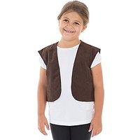Waistcoat Vest Costume For Kids (Brown)