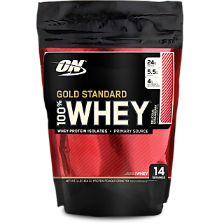 Optimum Nutrition (ON) Whey Gold Standard - 1 Lb (Delicious Strawberry)
