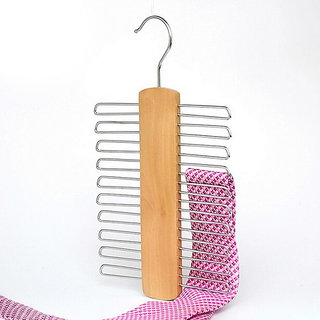 Kudos Natural Beech Wood Multifunctional Accessories Hangers for Ties and Belts, 1-Pack
