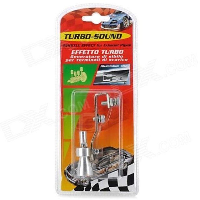 Generic Turbo Sound Whistle Exhaust Pipe Blowoff Valve Simulator Size XL  -Silver