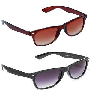 93b7ba958a Buy Magjons Fashion Combo Of Brown Black Wayfarer Sunglasses Online - Get 77%  Off
