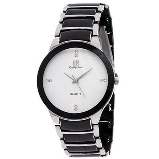 IIK Collection White Dial Metal Analog Watch For Men By Hans-007