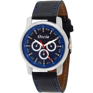 Oxcia Multi Color Dial Black Strap Analog Watch For Men  Boys