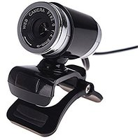 Cimkiz Webcam,USB 2.0 Web Cam, PC Cam With MIC Clip-on