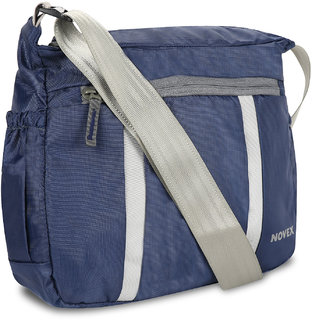 Novex Evoq Men Blue Nylon Sling Bag