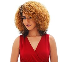 Janet Collection Human Hair Blend Brazilian Scent Lace Front Wig - AGNES (OET1B/BURG/99J)