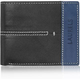 Laurels Bloke II Black Color MenS Wallet (Lw-Blk-II-0203)
