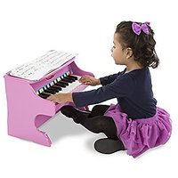 Melissa & Doug Learn-to-Play Pink Piano With 25 Keys An