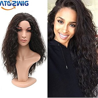 ATOZWIG Top Quality Fiber Curly Wigs half wig 3 Color Heat Resistant  Synthetic Hair Wigs African American Wig For Black Women f43c12228