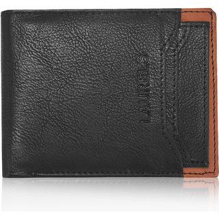 Laurels Martian Black Color MenS Wallet With Additional Card (Lw-Mrtn-0206)