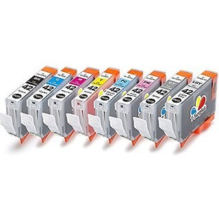 TS 8-PK Canon CLI-42 CLI42, compatible ink cartridges for Canon PIXMA PRO-100 printers (1 Black, 1 Cyan, 1 Gray, 1 Light Gray, 1 Magenta, 1 Yellow, ...