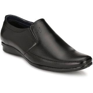 Eego Italy MenS Black Slip -On Smart Formal Shoes