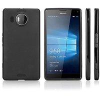 Nokia Lumia 950 XL Case, BoxWave [Blackout Case] Durable, Slim Fit, Black TPU Cover for Nokia Lumia 950 XL