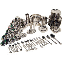 Stainless Steel 91 Pcs Dinner Set - 4754