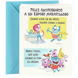 Buy Hallmark Vida Spanish Anniversary Greeting Card For Husband Online