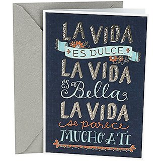 Buy Hallmark Vida Spanish Greeting Card La Banner Online INR837 From ShopClues