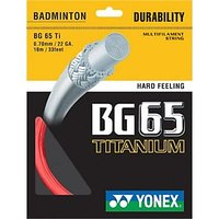 Yonex BG-65 Ti Red Badminton String