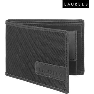 Laurels Colors Black Color MenS Wallet (Lw-Clr-0202)