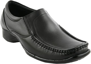 Eego Italy Men'S Black Slip -On Smart Formal Shoes
