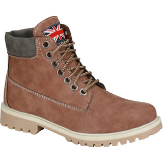 Eego Italy MenS Beige Lace - Up Boots