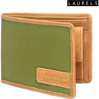 Laurels Colors Green Color MenS Wallet (Lw-Clr-0401)