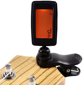 Futaba Chromatic Clip-On Digital Tuner For Acoustic Electric Guitar - Orange