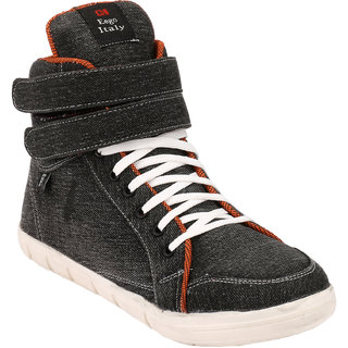 Eego Italy MenS Black Lace - Up Boots
