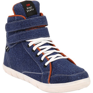 Eego Italy MenS Blue Lace - Up Boots