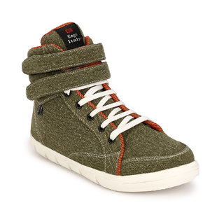 Eego Italy MenS Green Lace - Up Boots