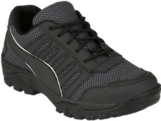 Eego Italy Men'S Black Lace -Up Running Shoes