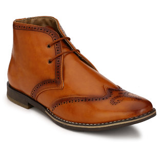 Eego Italy MenS Brown Lace - Up Boots