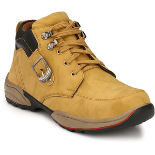 Eego Italy MenS Yellow Lace - Up Boots
