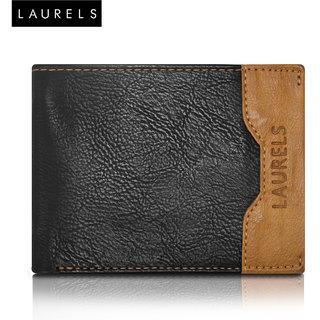 Laurels Tusk Black Color MenS Wallet (LW-TSK-0206)