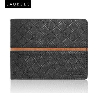 Laurels Cross II Black MenS Wallet (LW-CRS-II-0206)