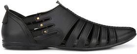 Eego Italy Men'S Black Slip -On Sandal