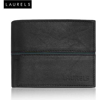 Laurels David Black Genuine Leather MenS Wallet (LW-DVD-0204)