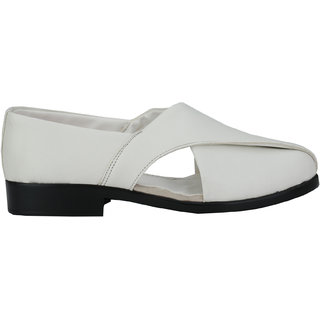 Eego Italy Men'S White Slip -On Sandal