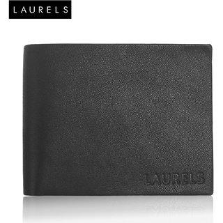 Laurels Emperor Black Genuine Leather MenS Wallet (LW-EMP-02)