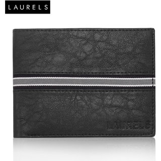 Laurels Raven Black MenS Wallet (LW-RVN-0202)