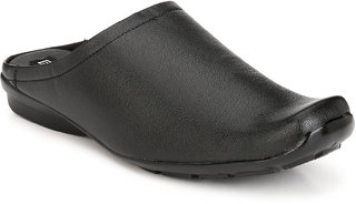 Eego Italy Men'S Black Slip -On Sandal