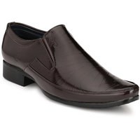 Eego Italy Men'S Brown Slip -On Smart Formal Shoes