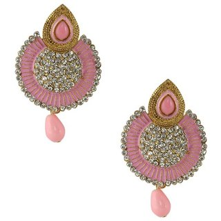 Penny Jewels Alloy Party Wear  Wedding Traditional Stone Latest Earring Set For Women  Girls