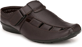 Eego Italy Men'S Brown Slip -On Sandal